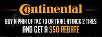 Buy Two Continental Tires Get $50