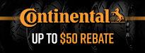 Continental Road Attack EVO 2 Tire Rebate
