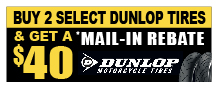 Dunlop Buy Two Get $40 Back
