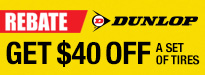 Buy Two Dunlop Tires Get $40