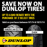 Up to $40 Rebate When You Purchase a Set of Two Eligible Dunlop Tires