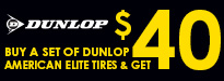 Dunlop American Elite Tires Rebate