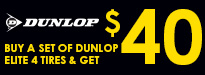 Dunlop Elite 4 Tires Rebate