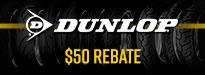Dunlop Trailsmart Tire Rebates