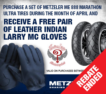 Metzeler ME 888 Indian Larry MC Gloves Promotion