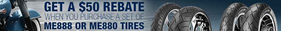 Get a $50 Rebate When You Purchase a Set of Two Select Metzeler Tires