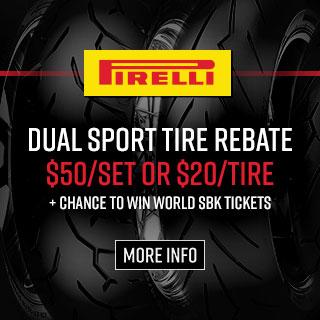 Pirelli Dual Sport Tire Rebates