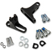 Drag Specialties Black Short Passenger Footpeg Mount Kit