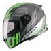 GMAX FF49 Rogue Matte Black/Hi-Vis Green Full Face Helmet