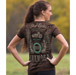 J&P Cycles Women's Winged Classic Chocolate Brown T-shirt
