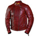Roland Sands Design Men's Clash Oxblood Leather Jacket