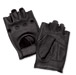 J&P Cycles Fingerless Deerskin Gloves with Easy-Pull Tabs