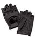 J&P Cycles Fingerless Deerskin Gloves with Easy-Pull Tabs