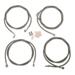 LA Choppers Stainless Braided Cable Kit For 18″- 20″ Ape Hangers W/ABS