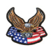 Hot Leathers  Eagle, Engine & Banner Embroidered Patch
