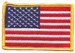 Hot Leathers  American Flag Embroidered Patch