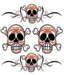 Lethal Threat Pinstripe Skull Decal