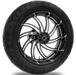 Performance Machine Supra Contrast Cut Platinum Rear Wheel Package, 17″ x 6″ without ABS