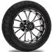 Performance Machine Heathen Contrast Cut Platinum Rear Wheel Package, 17″ x 6″ with ABS