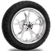 Performance Machine Luxe Chrome Rear Wheel Package, 17″ x 6″ without ABS