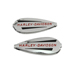 V-Twin Manufacturing Gas Tank Emblem Set with Red Lettering