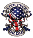 Lethal Threat Live Free Skull Decal