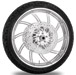 Performance Machine Supra Chrome Front Wheel Package, 21″ x 3.5 with ABS