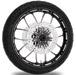Performance Machine Heathen Contrast Cut Platinum Front Wheel Package, 21″ x 3.5 WO/ABS