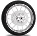 Performance Machine Heathen Chrome Front Wheel Package, 21″ x 3.5 with ABS