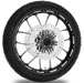 Performance Machine Heathen Contrast Cut Platinum Front Wheel Package, 21″ x 3.5 with ABS