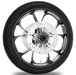 Performance Machine Luxe Contrast Cut Platinum Front Wheel Package, 21″ x 3.5 WO/ABS