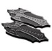 Precision Billet Black Bad Axe Passenger Floorboards