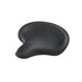 V-Twin Manufacturing Black Leather Thin Style Solo Seat