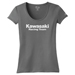 Factory Effex Women's Kawasaki Racing Team Charcoal T-Shirt
