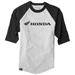 Factory Effex Men's Honda Black/Gray Baseball Tee