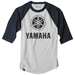 Factory Effex Men's Yamaha Navy/Gray Baseball Tee