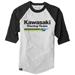 Factory Effex Men's Kawasaki Black/Gray Baseball Tee