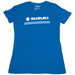 Factory Effex Women's Suzuki Stripes Royal Blue T-Shirt