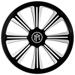 Performance Machine Riviera Faceplate for SuperGas Air Cleaner Contrast Cut Platinum