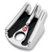 Battistinis Wireframe Chrome/Black Anodized Ignition Switch Covers