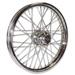 V-Factor 40 Spoke Chrome Front Wheel, 19 x 2.5