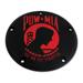 Custom Engraving Ltd. Black Wrinkle & Red POW Derby Cover