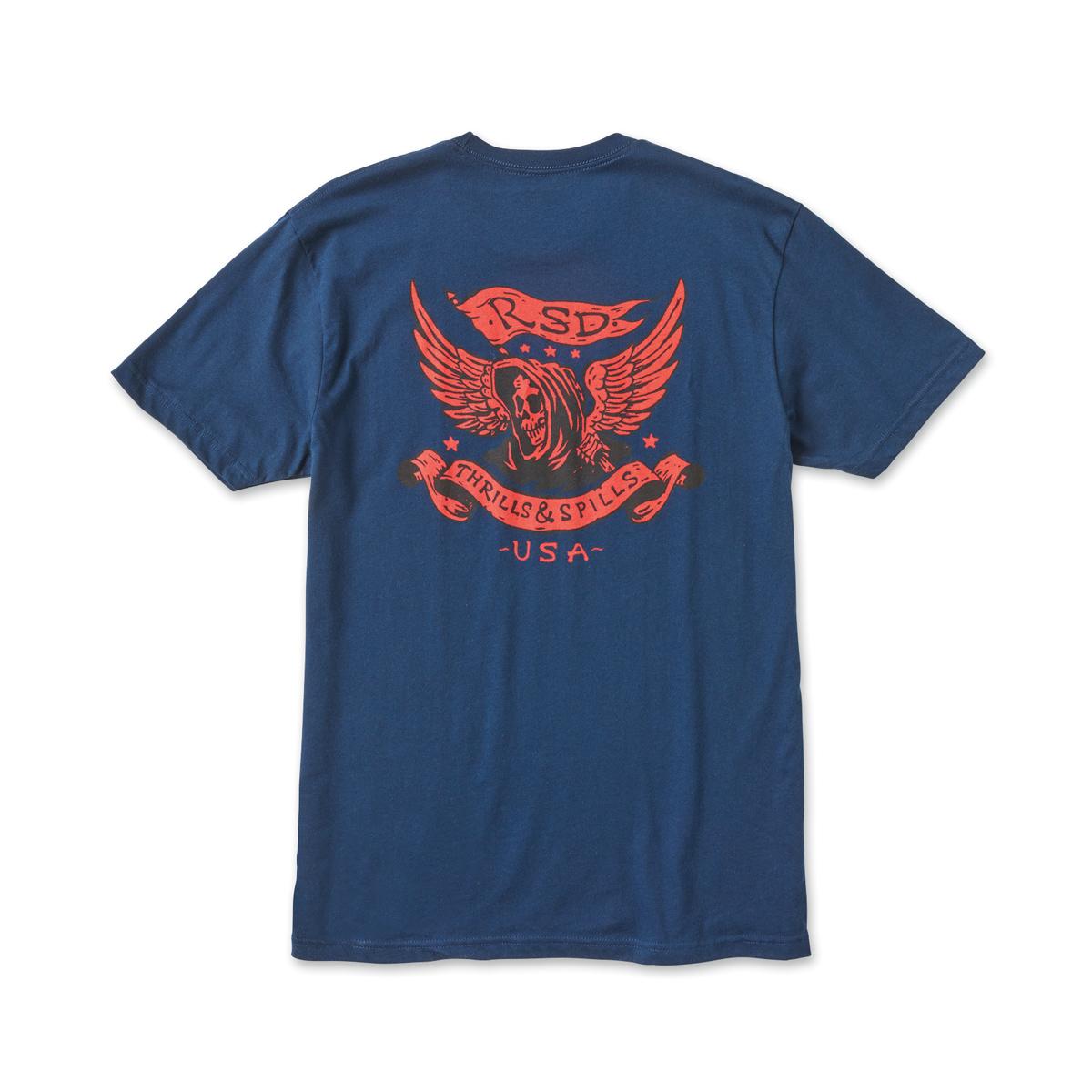 Roland Sands Design Men's Thrills Navy T-Shirt