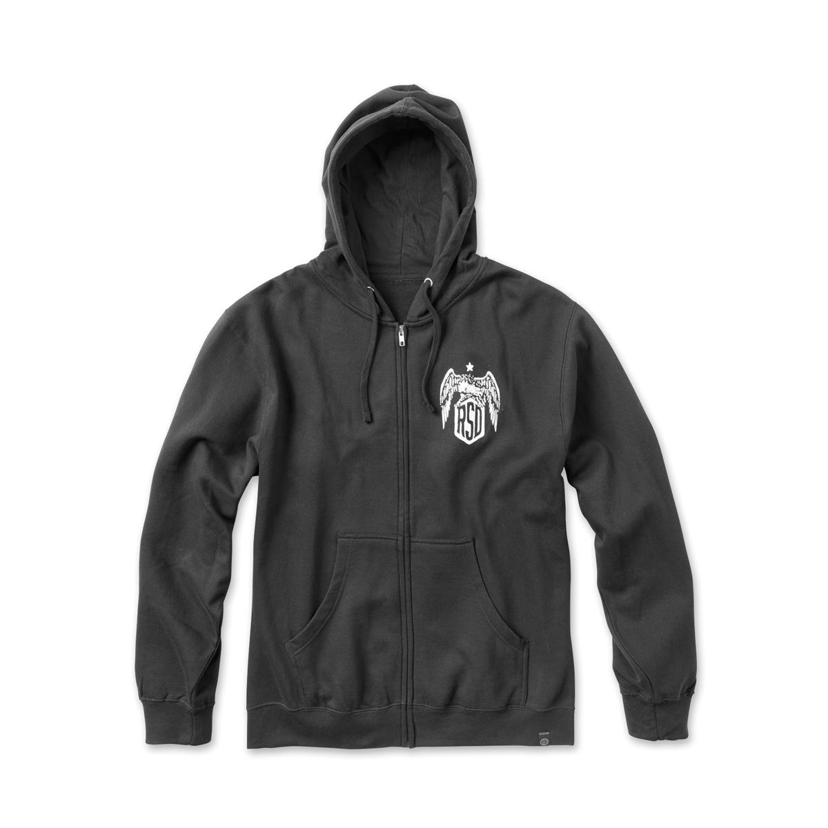 Roland Sands Design Men's Hooligan Eagle Black Zip Hoodie