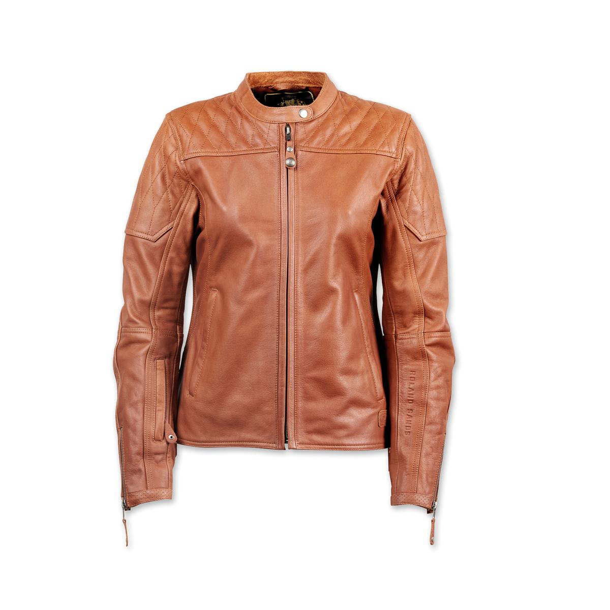 Roland Sands Design Women's Trinity Brown Leather Jacket