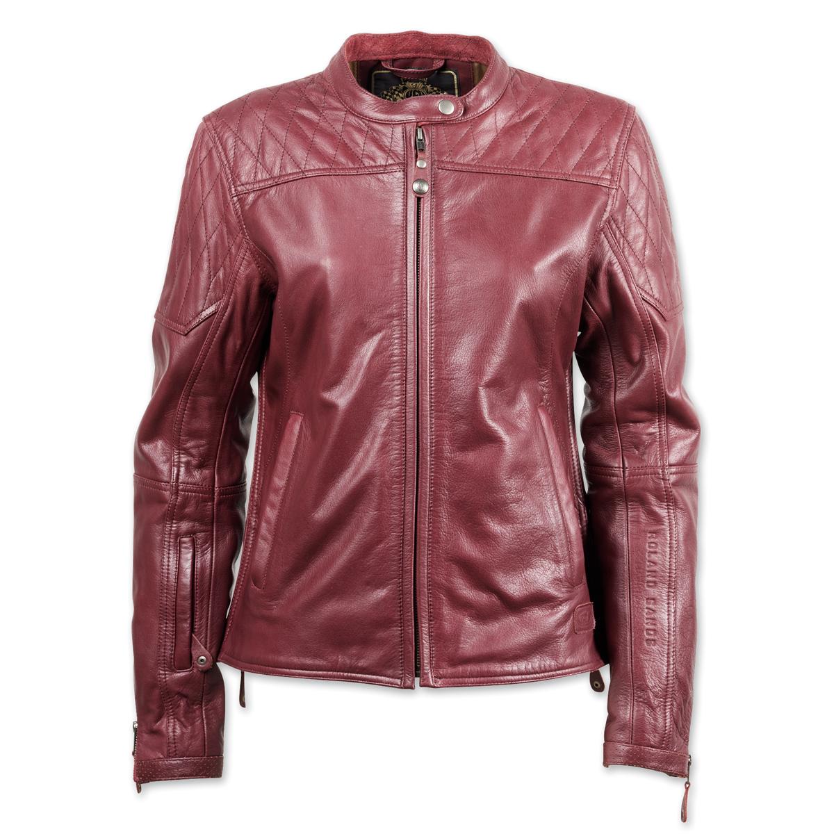 Roland Sands Design Women's Trinity Merlot Leather Jacket