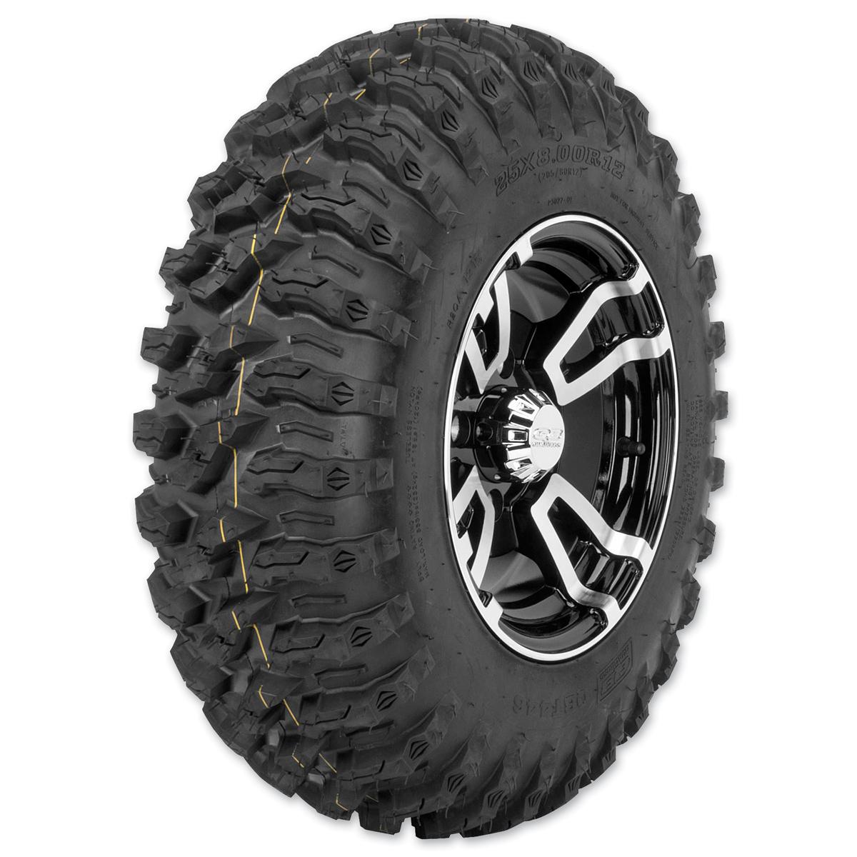 Quadboss QBT446 25X8R12 8-Ply Front Tire