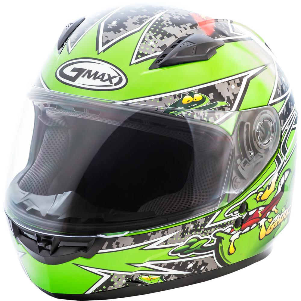 GMAX GM49Y Alien Green Youth Full Face Helmet