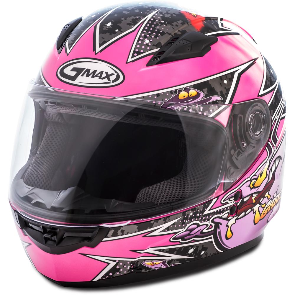 GMAX GM49Y Alien Pink Youth Full Face Helmet