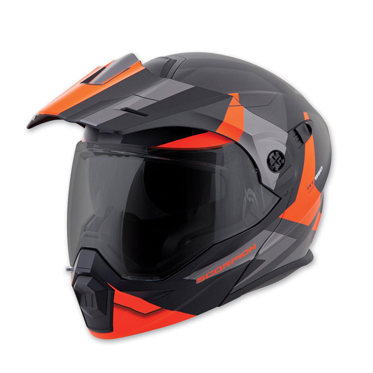 Scorpion EXO EXO-AT950 Neocon Orange Modular Helmet
